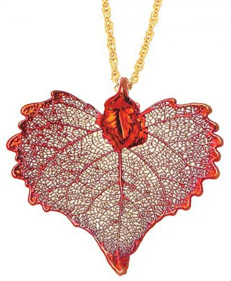 Cottonwood Leaf Copper Necklace