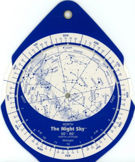Planisphere: Two-Sided, 5-Inch, 50-60°