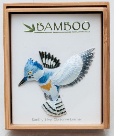 Kingfisher Pin (Bamboo Jewelry)