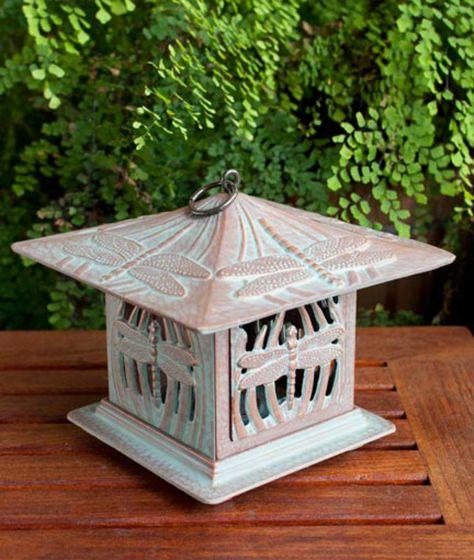 Dragonfly Tea Lantern (Copper Verdi)