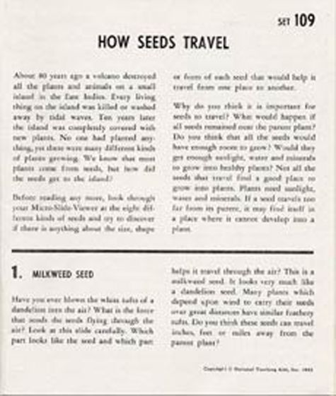 How Seeds Travel (Microslide® Lesson Set).