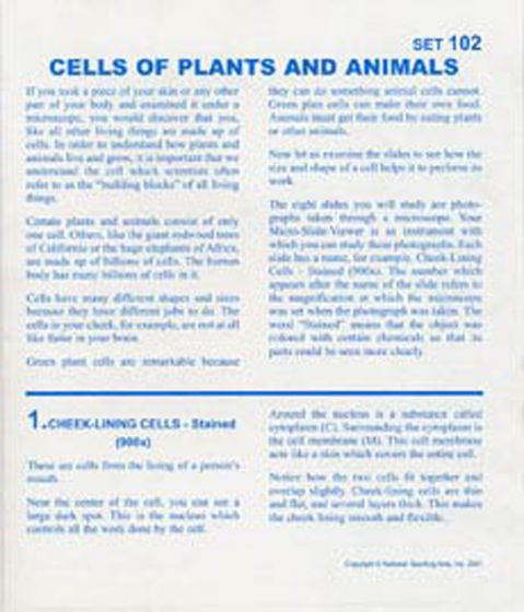 Cells Of Plants And Animals (Microslide® Lesson Set).