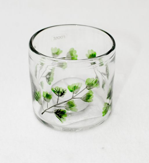 Fern Leaf Votive Jar