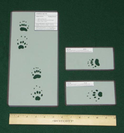Skunk (Striped) Tracking Stencils