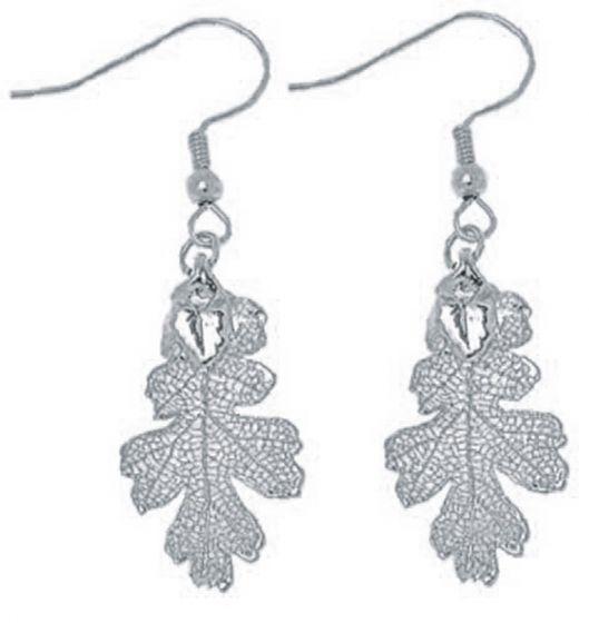 Oak Leaf Silver Earrings