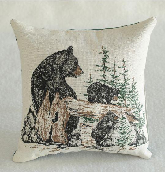 Black Bear & Cubs Balsam Pillow