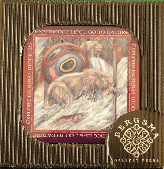 Grizzly Bear River Of Life Decorative Tile