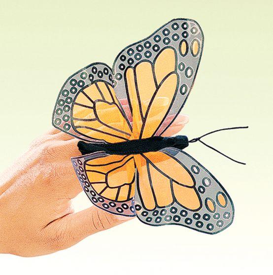 Butterfly (Monarch) Finger Puppet