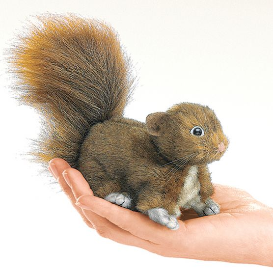 Squirrel (Red) Finger Puppet