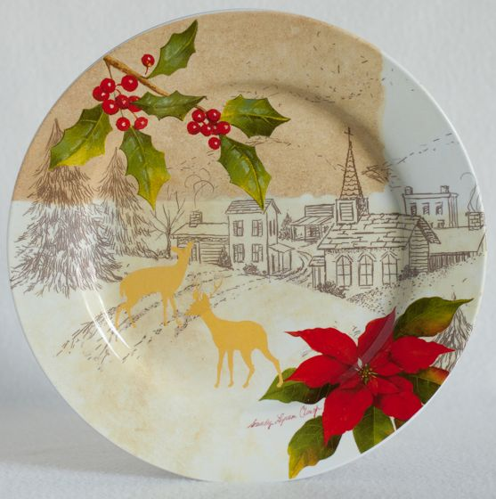 Holiday Landscape Dinner Plate