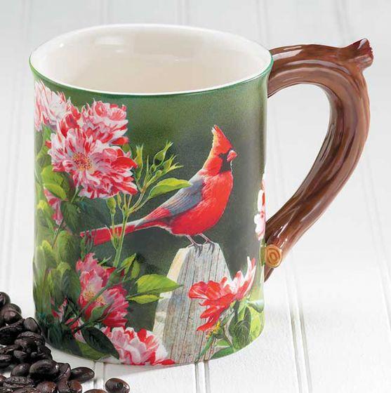 Cardinal Sculpted Mug