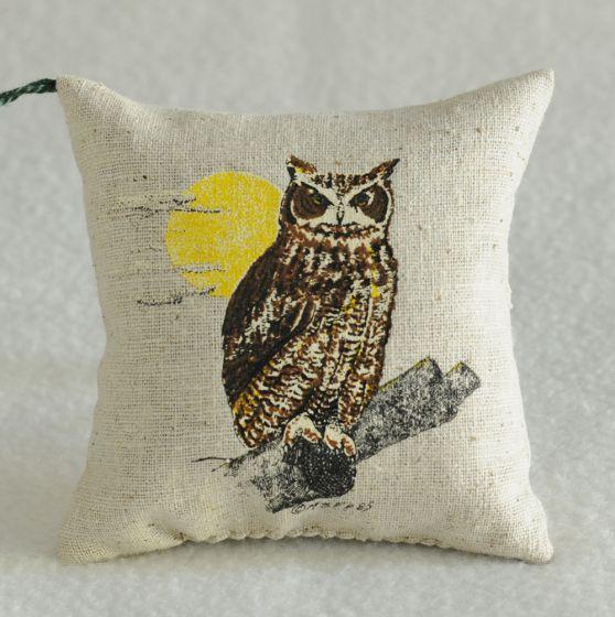 Great Horned Owl Balsam Pillow (Assorted).