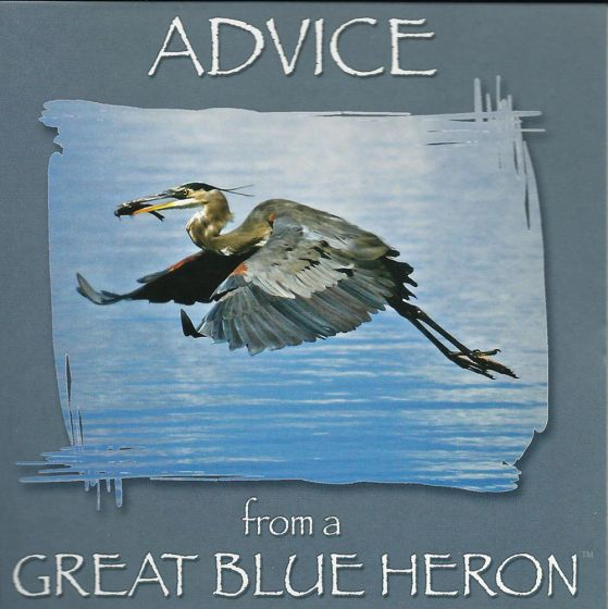 Advice From A Great Blue Heron™ Wing Tips™ Greeting Card