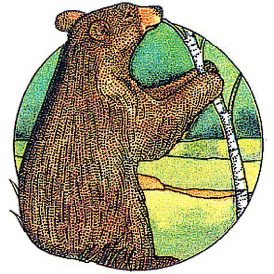 Bear (Black) Rubber Stamp