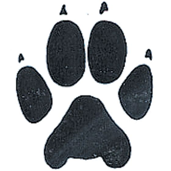 Wolf Track Rubber Stamp