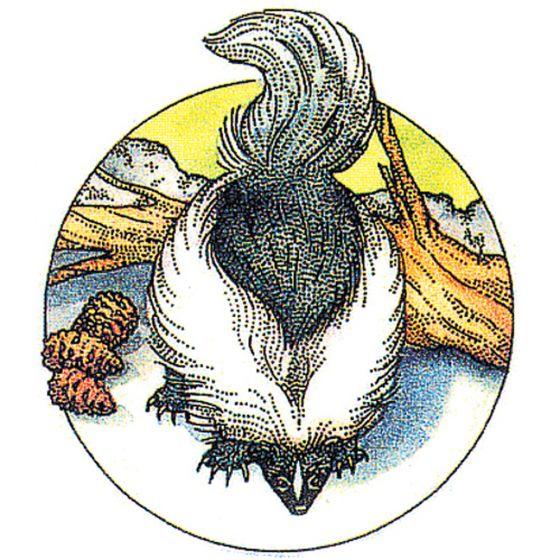 Skunk Rubber Stamp