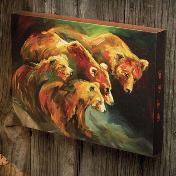 Bear & Cubs Wall Canvas