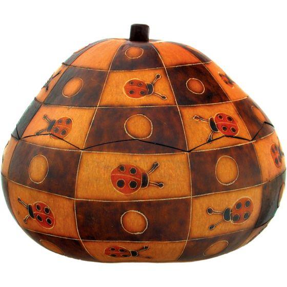 Ladybugs Gourd Box