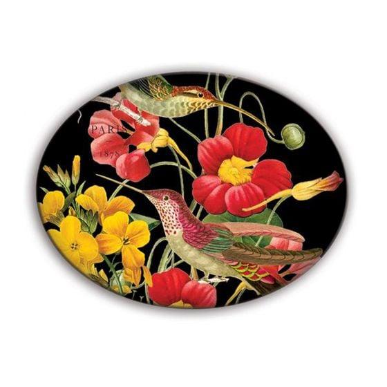 Flora Exotica Glass Soap Dish