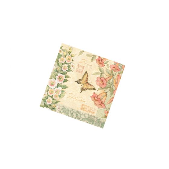 Hummingbird & Butterfly Cocktail Napkins (Pack Of 20)