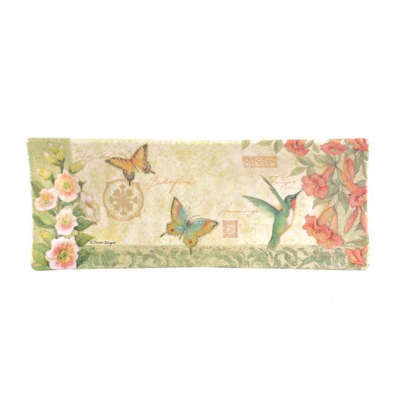 Hummingbird & Butterfly Rectangular Platter