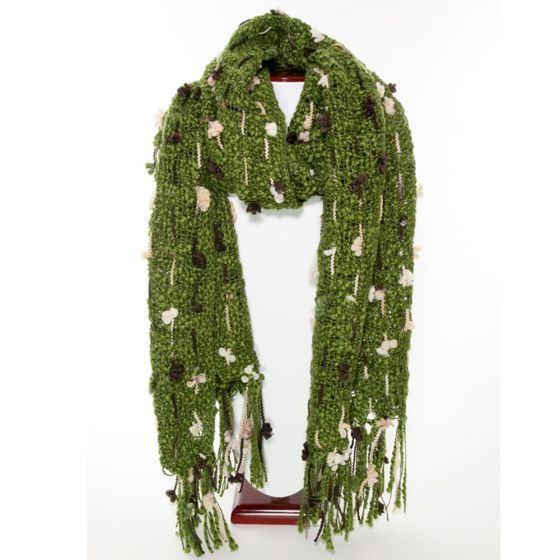 Thai Accented Scarf (Olive