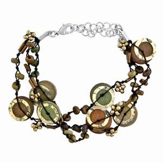Dark Earth Tone Bracelet.