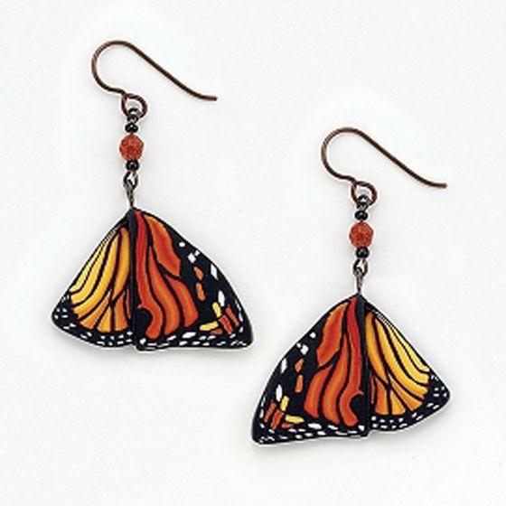 Yipes! Monarch Butterfly Wing Earrings