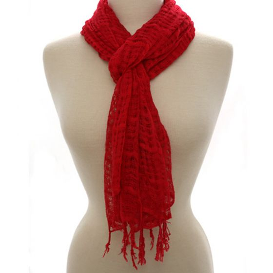 Indonesian Scarf (Red)