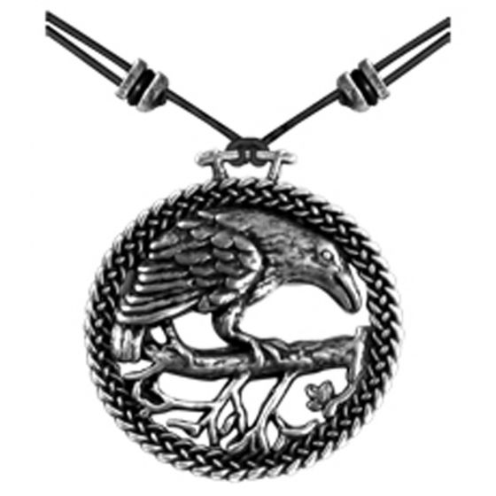 Pewter Raven Necklace
