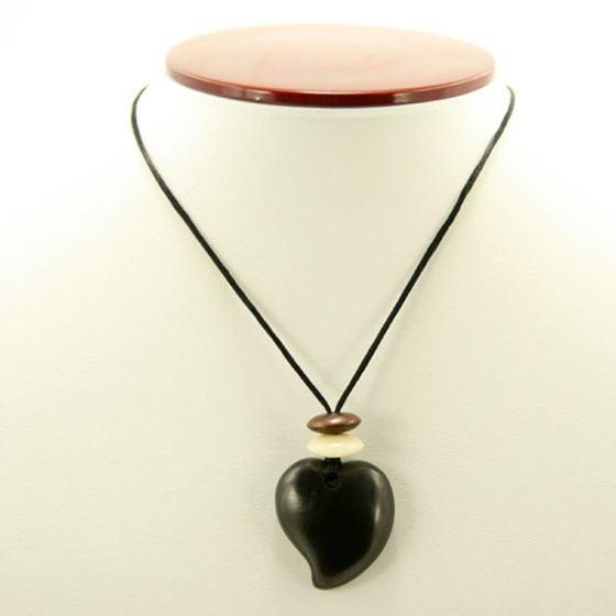 Columbian Coal Raindrop Necklace