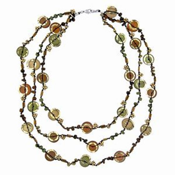 Natural Earth Tone Necklace.