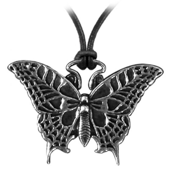Pewter Butterfly Necklace.