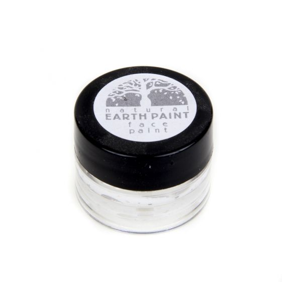 Earth Clay Face Paint Jar: White.