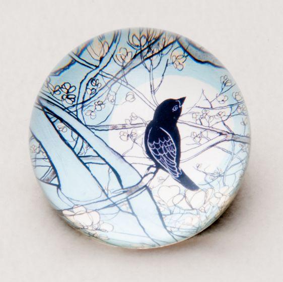 Songbird Glass Paperweight.