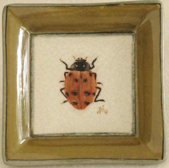 Ladybug Decorative Porcelain Tray