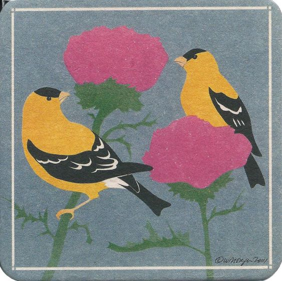Goldfinches Coaster Set