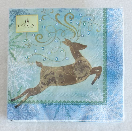 Holiday Deer Luncheon Napkins