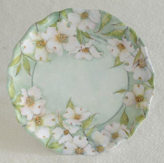 Dogwood Flower Melamine Plate.