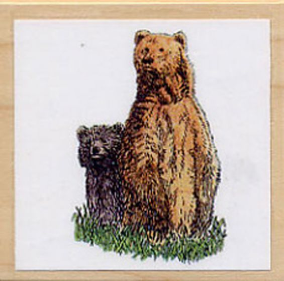 Bear (Grizzly) Rubber Stamp