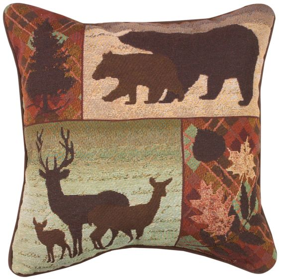 Forest Silhouettes Pillow