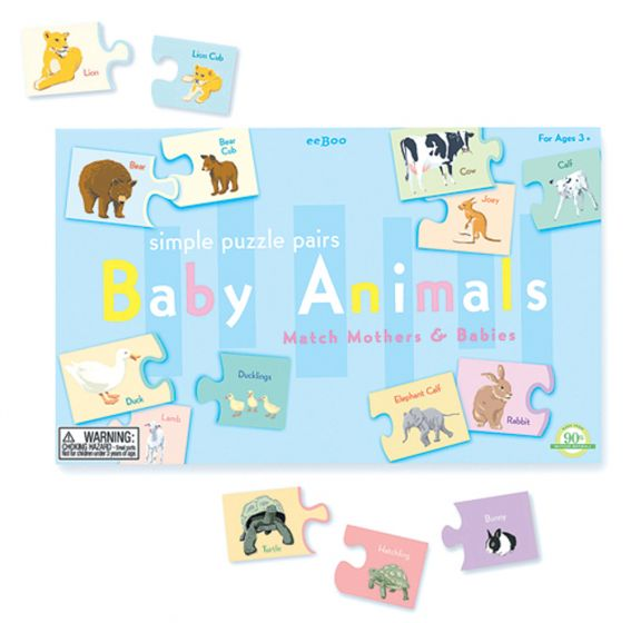 Puzzle Pairs: Baby Animals
