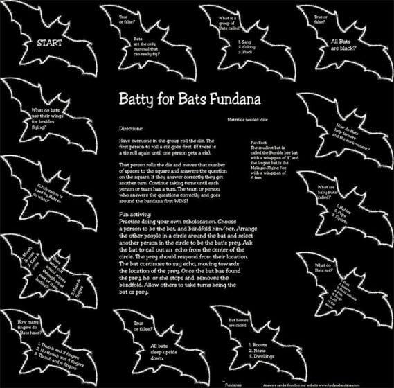 Batty for Bats Scarf (Fundana® Bandana)