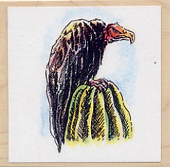 Vulture (Turkey) Rubber Stamp