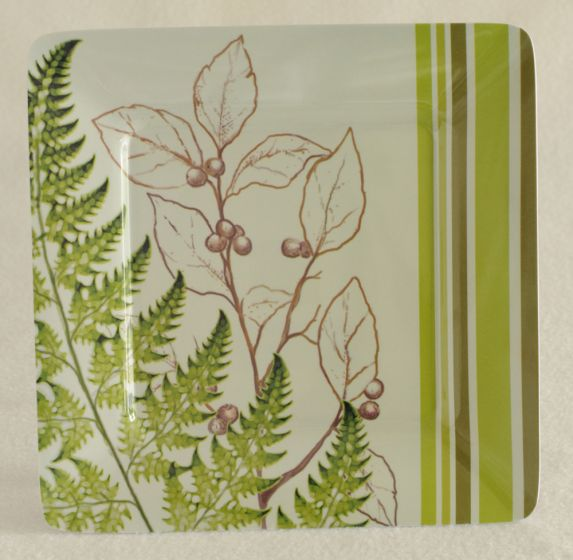 Ferns Melamine Plate.