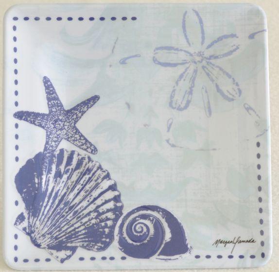 Seashell & Sea Star Melamine Salad Plate