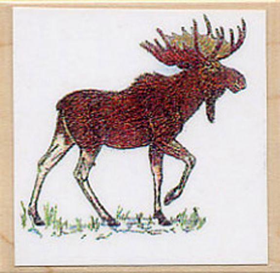Moose (Bull) Rubber Stamp.