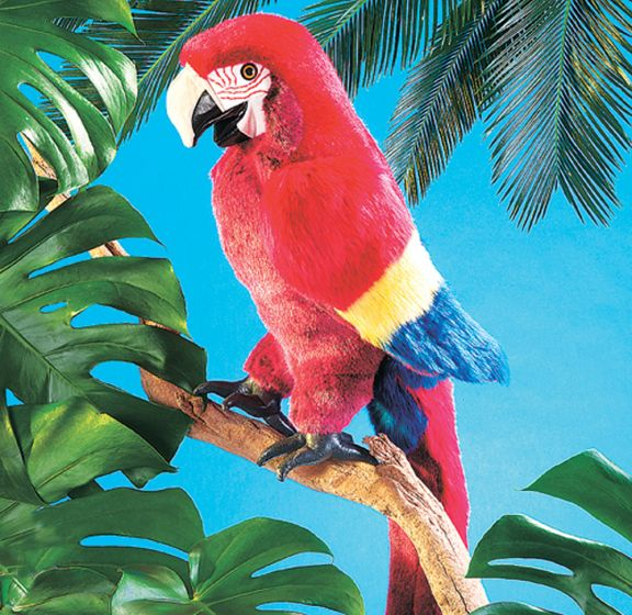 Macaw (Scarlet) Puppet