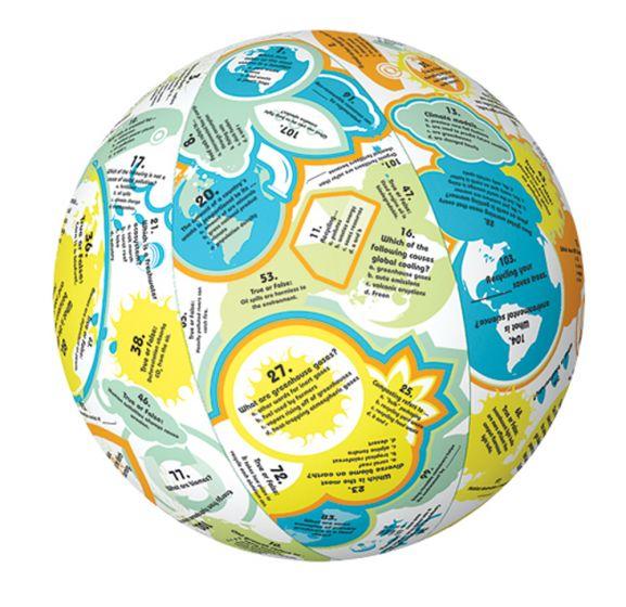 Green Earth Instructional Play Ball