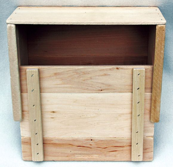 "Wooden Slide-Top Storage Box (11"" X 9"" X 6"")"
